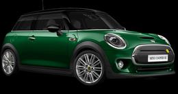 En british racing green iv Cooper SE Hatch