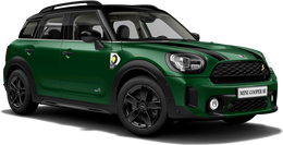 En british racing green iv Cooper SE ALL4 Countryman