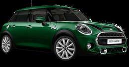 En british racing green iv Cooper S 5-dörrar