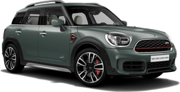 En sage green metallic John Cooper Works ALL4 Countryman