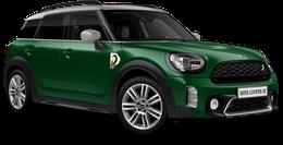 En british racing green iv Cooper SE ALL4 Countryman