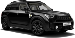 En midnight black metallic Cooper SE ALL4 Countryman