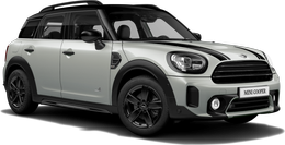 En white silver metallic Cooper ALL4 Countryman