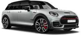En white silver metallic John Cooper Works ALL4 Clubman