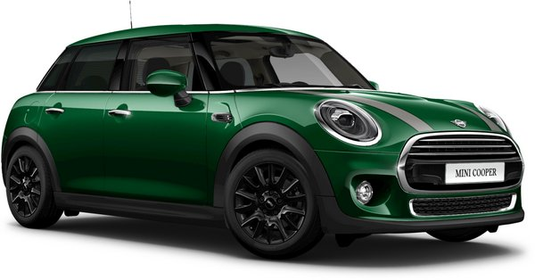 En british racing green iv Cooper 5-dörrar