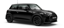 En midnight black metallic Cooper