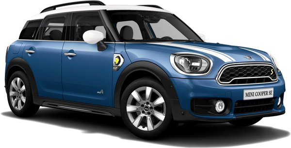 En island blue Cooper S E All4 Countryman