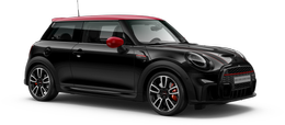 En midnight black metallic John Cooper Works