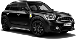En midnight black metallic Cooper S E All4 Countryman