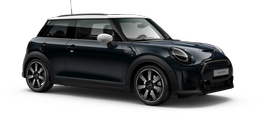 En enigmatic black metallic Cooper S