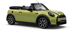 En zesty yellow Cooper S Cabrio