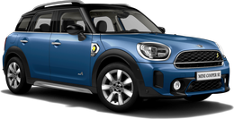 En island blue Cooper SE ALL4 Countryman
