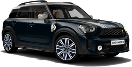 En enigmatic black metallic Cooper SE ALL4 Countryman