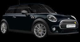 En enigmatic black metallic Cooper SE Hatch