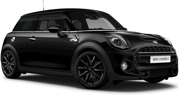 En midnight black metallic Cooper S