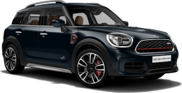 En enigmatic black metallic John Cooper Works ALL4 Countryman