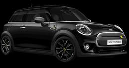 En midnight black metallic Cooper SE Hatch