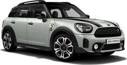 white silver metallic Cooper SE ALL4 Countryman