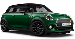 En british racing green iv Cooper SE Hatch