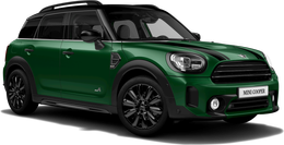 En british racing green iv Cooper ALL4 Countryman