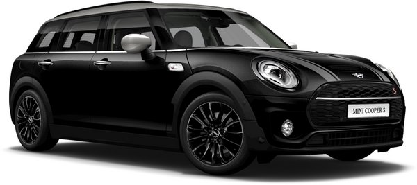 En midnight black metallic Cooper S Clubman