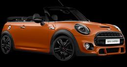 En solaris orange Cooper S Cabrio