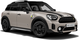 En rooftop grey Cooper SE ALL4 Countryman