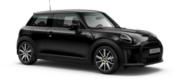 En midnight black metallic Cooper SE