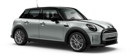 En white silver metallic Cooper 5-doors