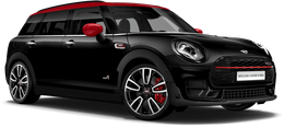 En midnight black metallic John Cooper Works ALL4 Clubman