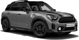 En moonwalk grey metallic Cooper SE ALL4 Countryman