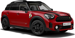 En chiliröd Cooper SE ALL4 Countryman
